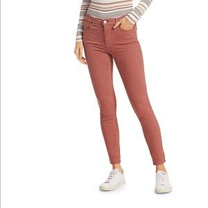FRAME High Rise Skinny Jeans Rust Le High Side
